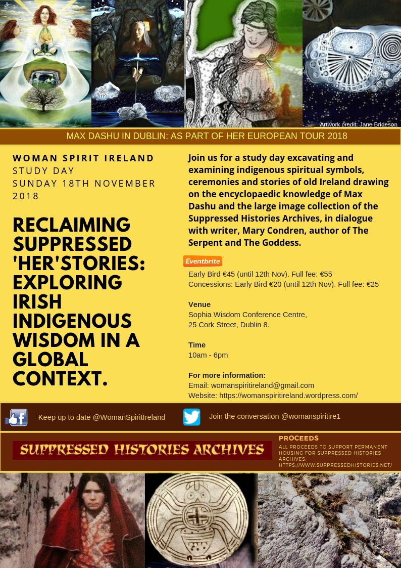 Woman Spirit ireland and Max Dashu Mary Condren study day image